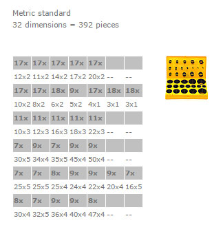 Assorted Boxes Profile - BOX L NBR 90