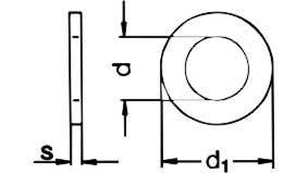 Copper plain washers metric DIN 7349 | Conex Copper