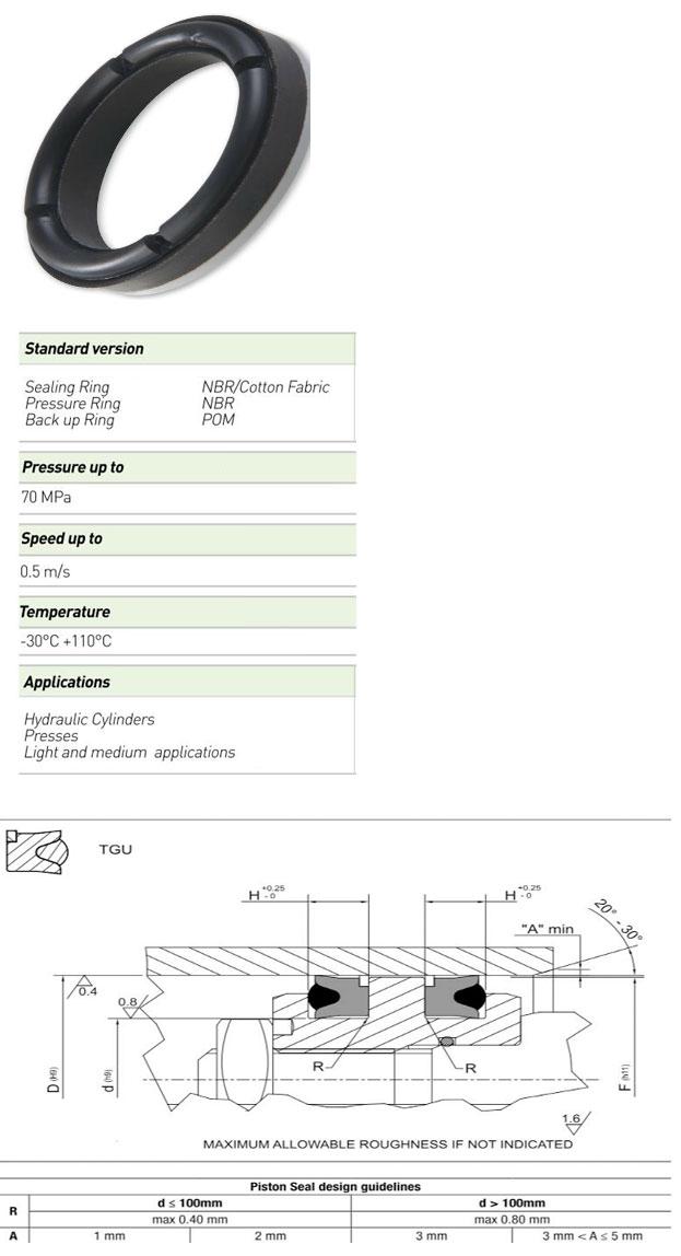 Piston Seals Profile - TGU