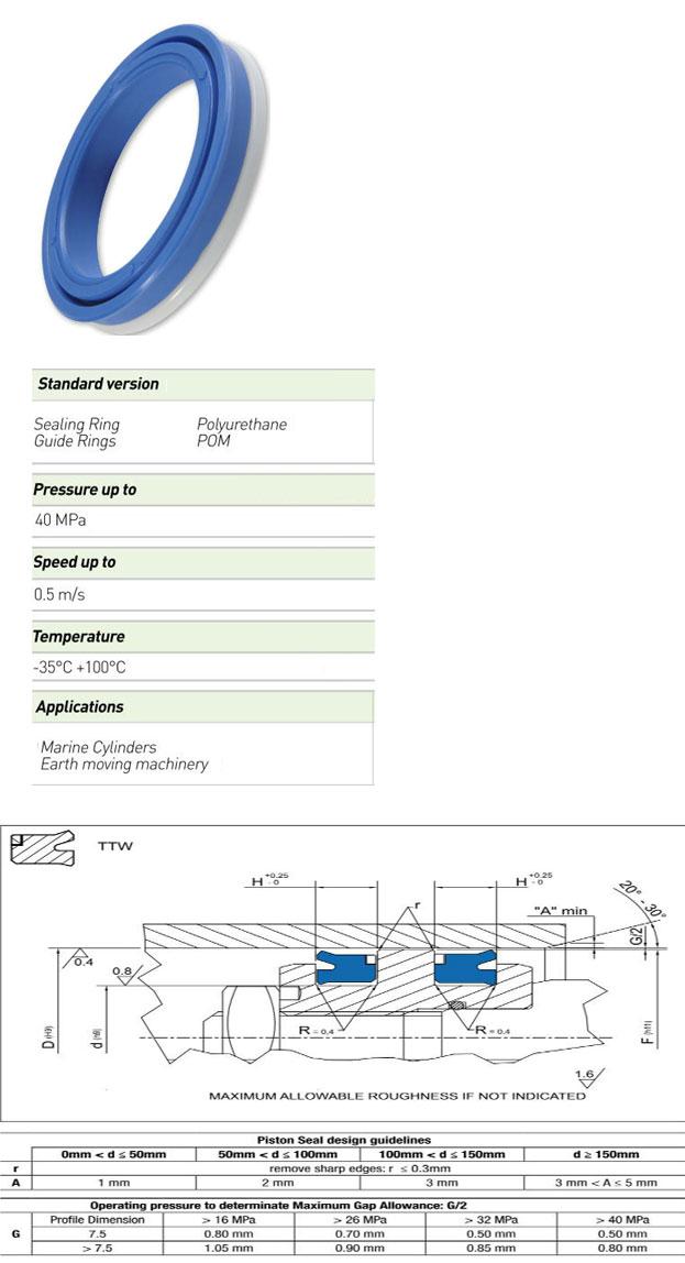Piston Seals Profile - TTW