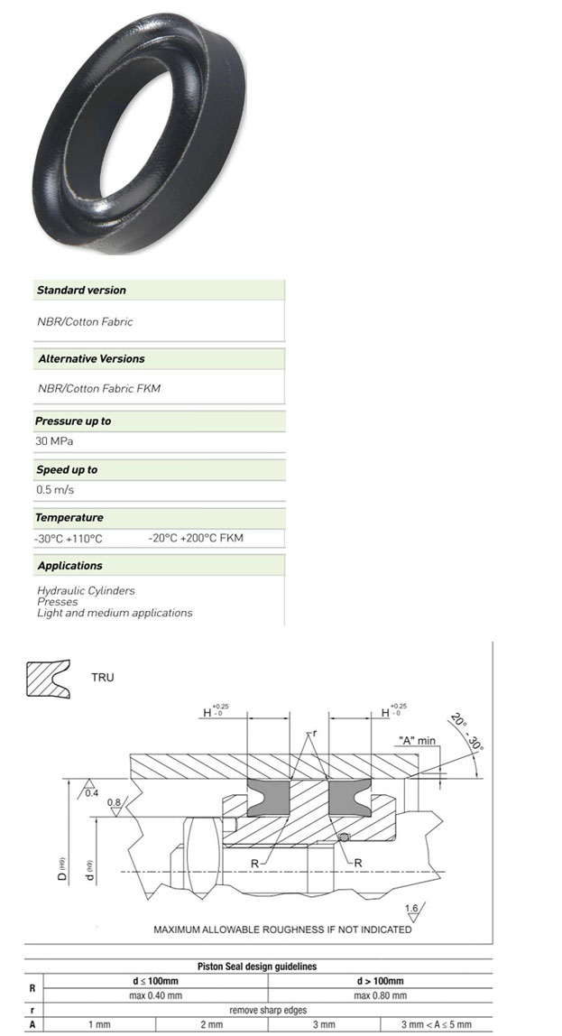 Piston Seals Profile - TRU