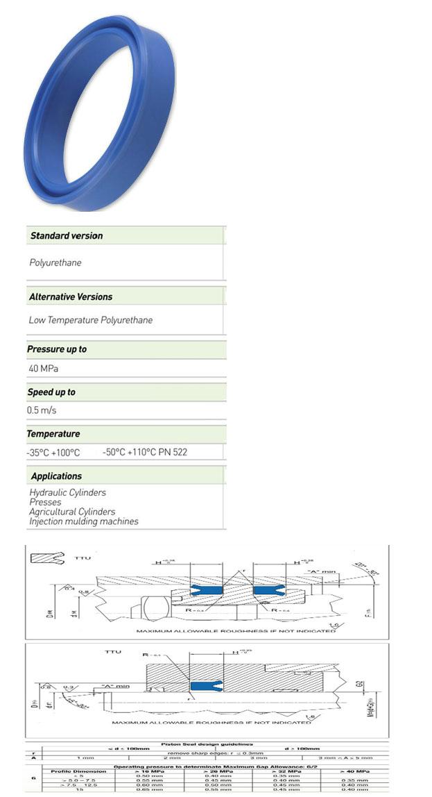 Piston Seals Profile - TTU