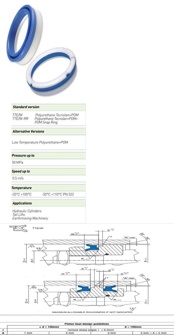 Piston Seals Profile - TTE/W