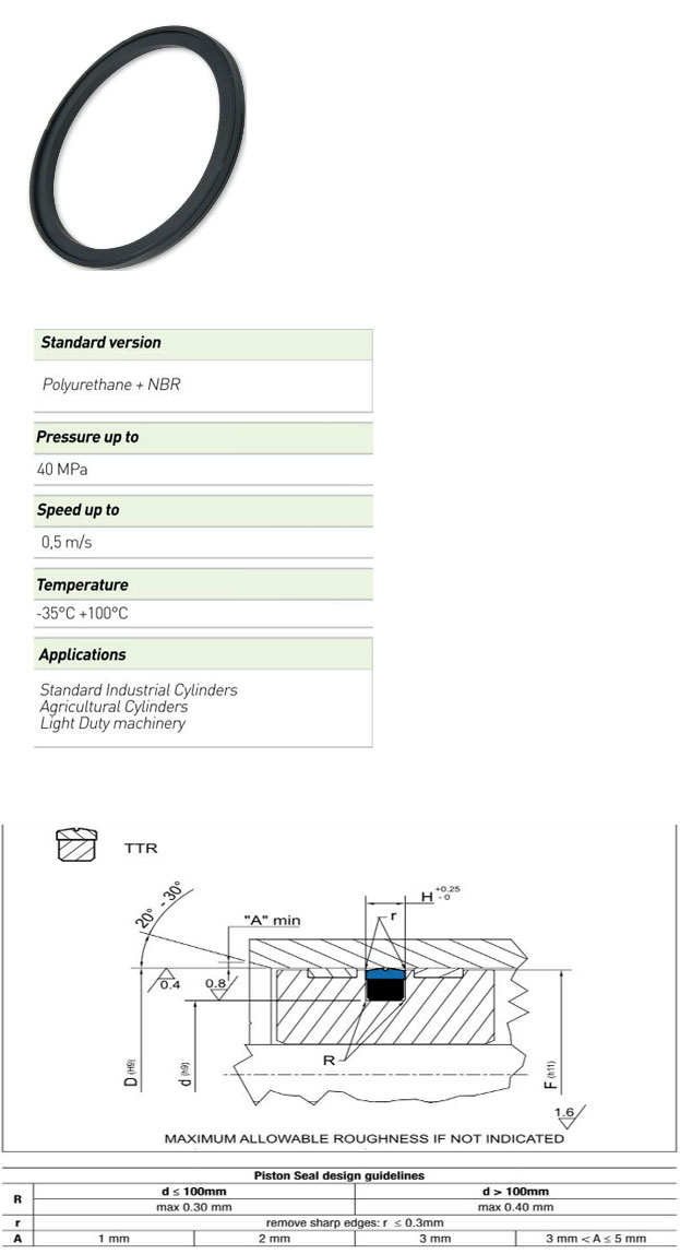 Piston Seals Profile - TTR