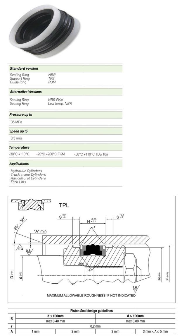 Piston Seals Profile - TPL