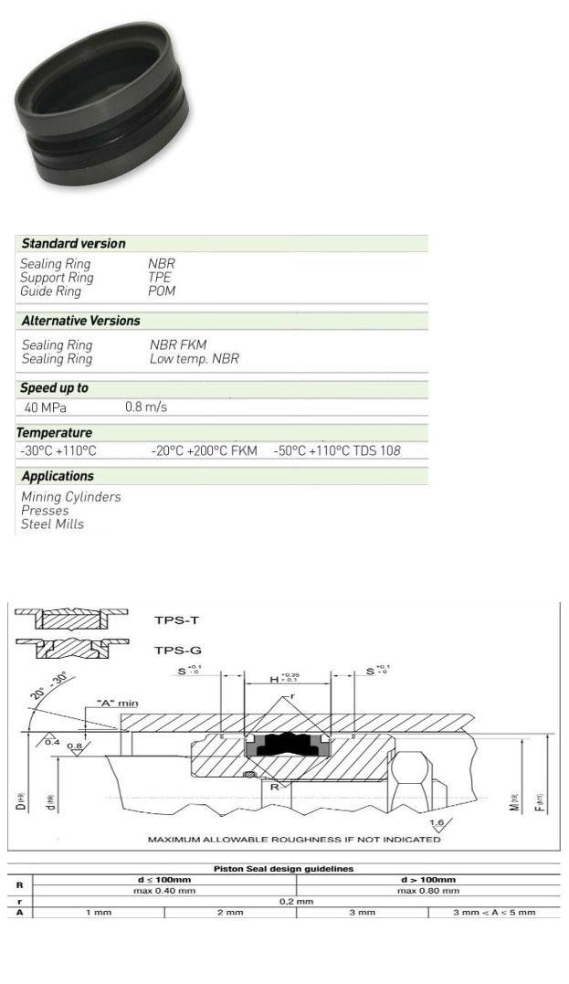 Piston Seals Profile - TPS/T