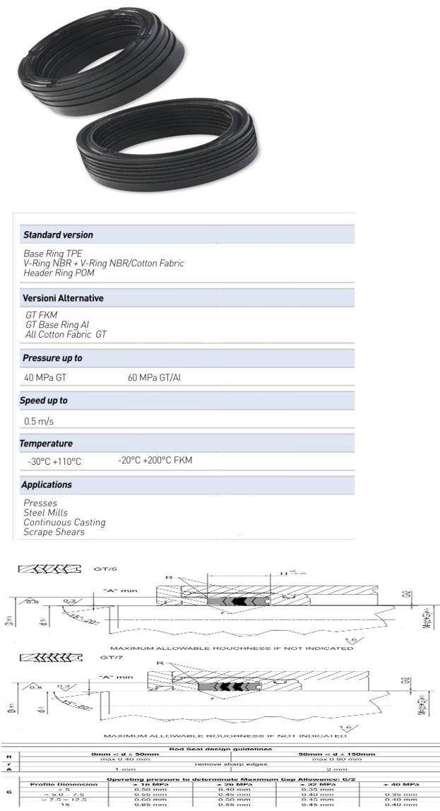Rod Seals Profile - GT/7