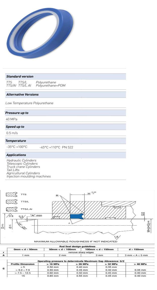 Rod Seals Profile - TTS/L