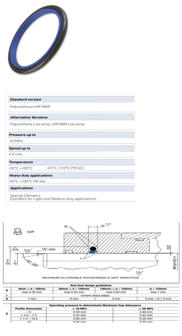 Rod Seals Profile - GIP