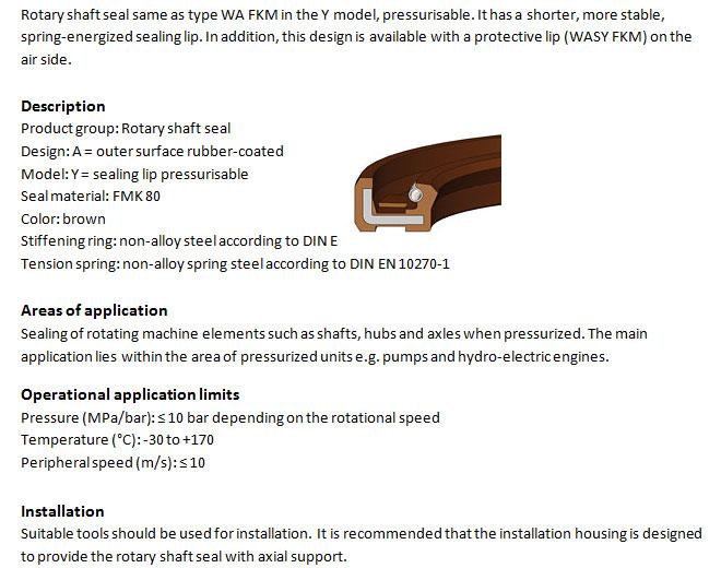 Rotary Shaft Seal Profile - WAY FKM
