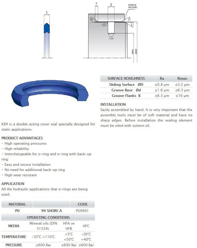 Static Sealing Elements Profile - K84
