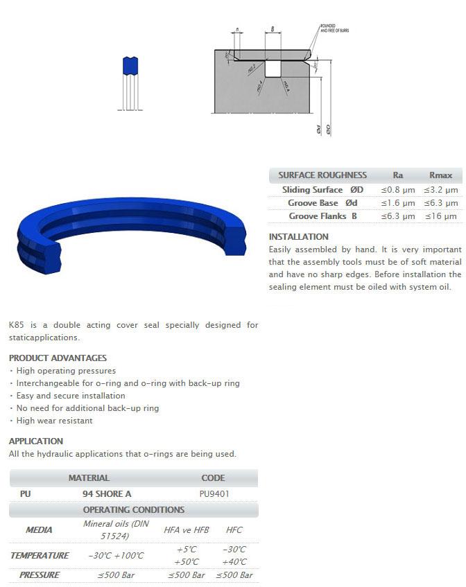Static Sealing Elements Profile - K85